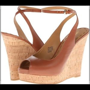 Nine West Tan Lienna Wedges